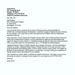 Human Resources Position Cover Letter Example