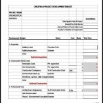 Sample Construction Budget Excel Template