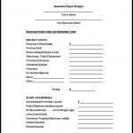 Sample Project Budget Proposal Free Download