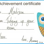 Certificate Of Achievement For Kids
