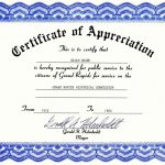 Certificate Of Appreciation Text