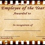 Employee Of The Year Certificates