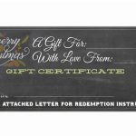 Free Blank Gift Certificate
