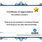 Free Participation Certificate Templates