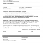 21+ Vaccination Consent Form Template