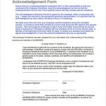 9+ Policy Acknowledgement Form Template