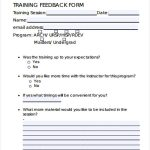 21+ Employee Training Feedback Form Template
