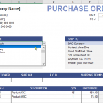 19+ Purchase Order Forms Templates Free Download