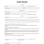8+ Release Form For Filming Template