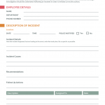 12+ Work Accident Report Form Template