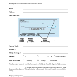 13+ Direct Deposit Forms For Employees Template