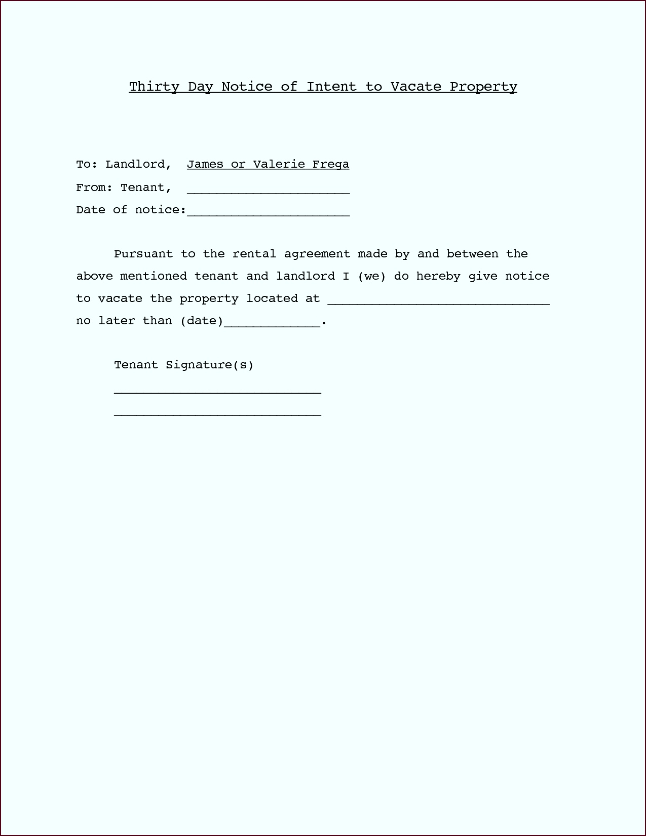 Letter Template For Landlord Notice New Cover Letter For Rental Property Choice Image Cover Letter Sample irate
