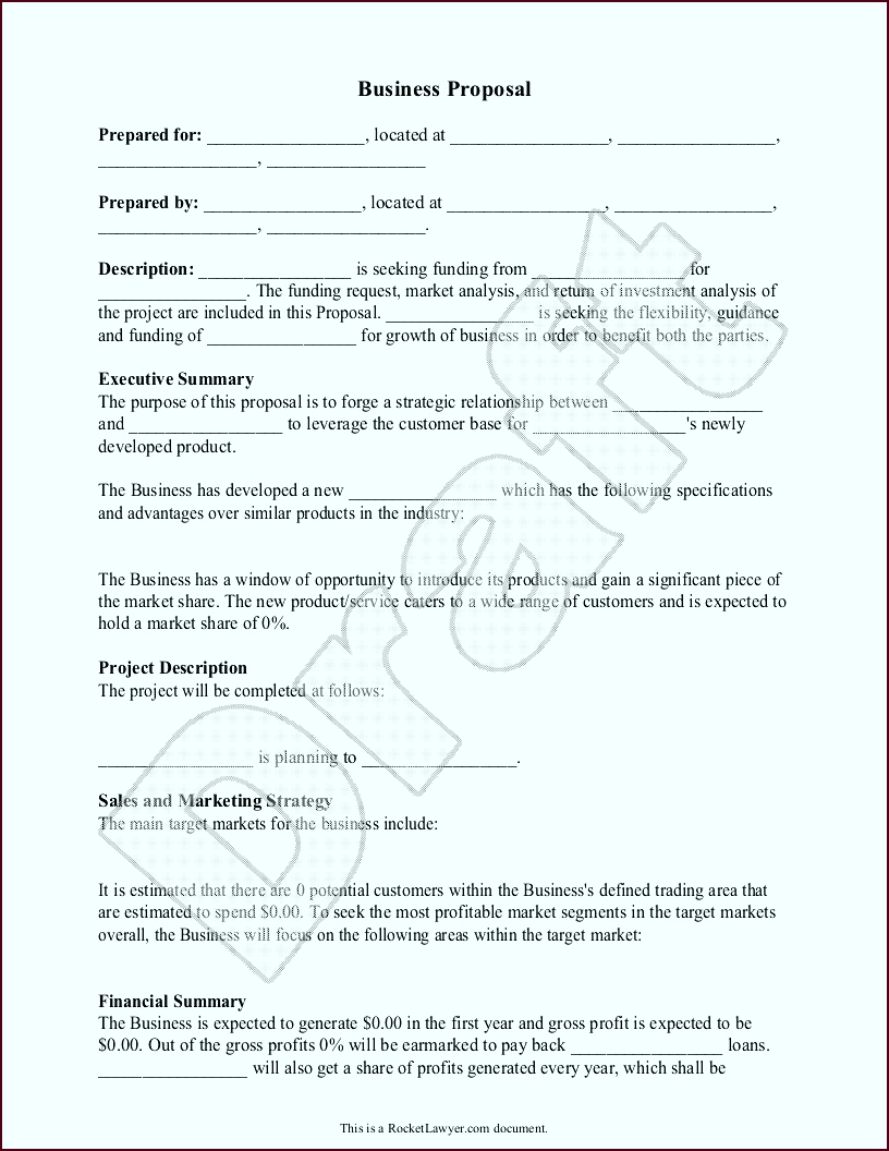 Business Proposal Template Free Business Proposal Sample tawuh