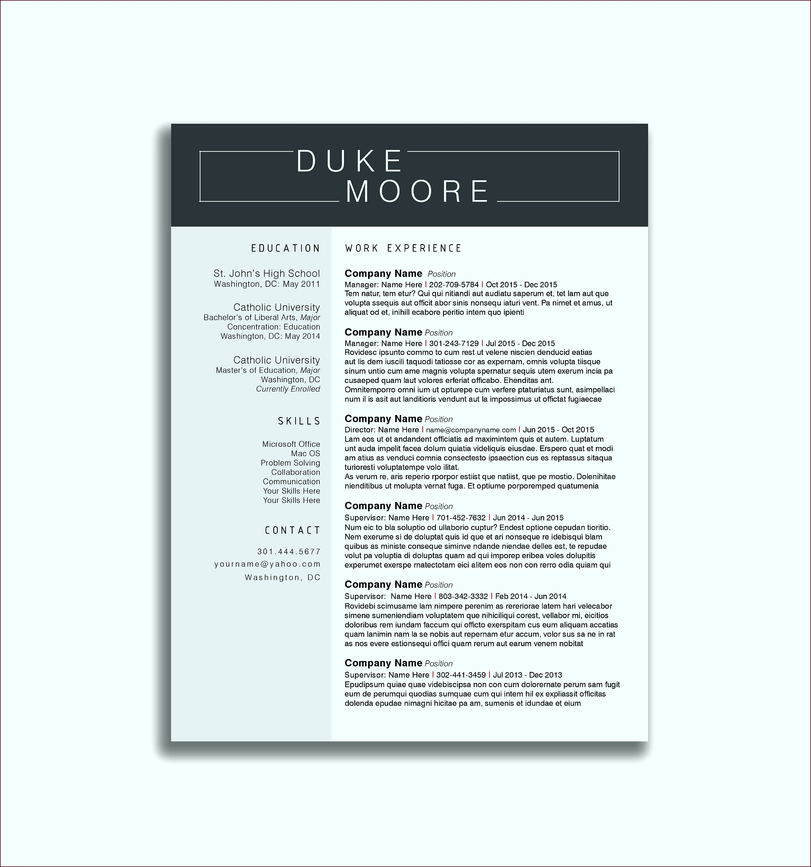 Resume Writing Examples Beautiful Resume Cover Letter Template Docx Best Creative Resume Template iwtti