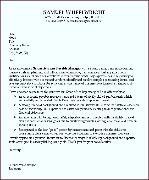 Sample Cover Letters for Employment eiret