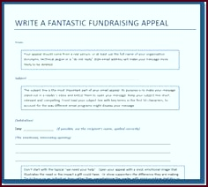 Nonprofit Fundraising Appeal Templates puoyi