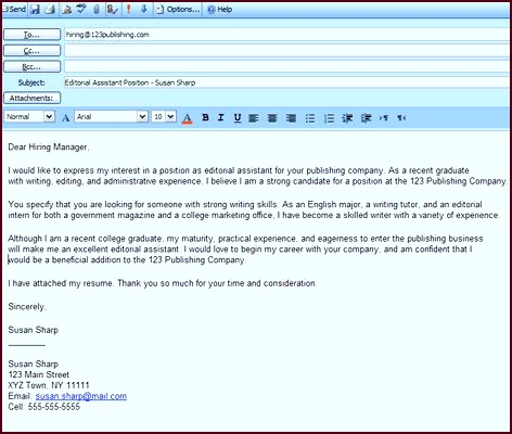 Best Formats for Sending Job Search Emails Cover Letter FormatCover ubawy