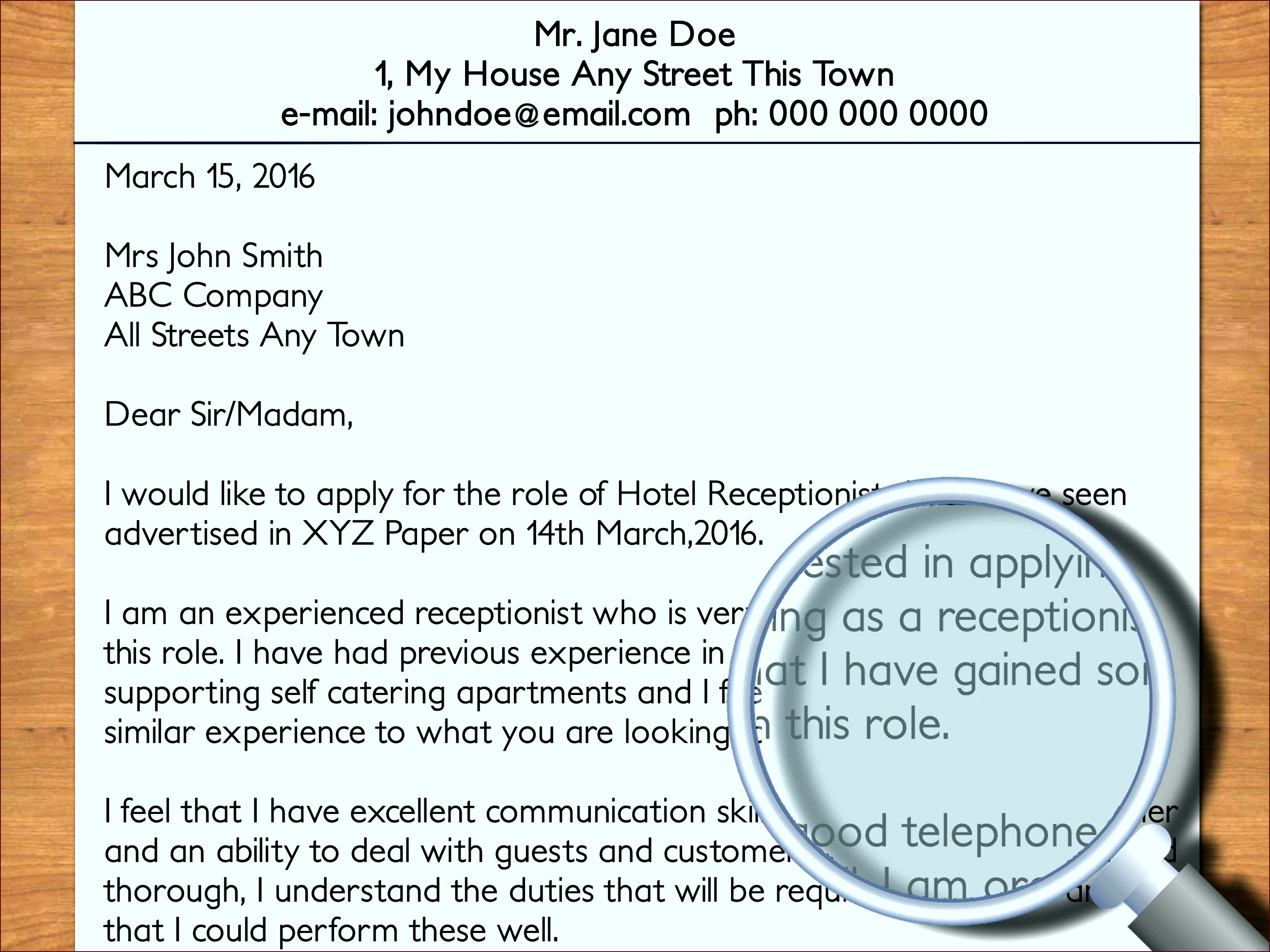 Employment Cover Letter Examples Lovely How to Write A Cover Letter to A Hotel with ruoyi