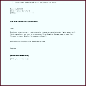 Employment Verification Letter Template Microsoft Fresh Inspirational Letters Reference rtipi