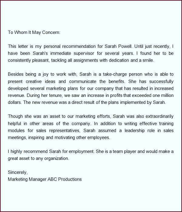 Endorsement Letter For Employment Sample Re mendation Letters For Employment 12 Documents In Word Sample Endorsement Letter Template Formal Word eeaew