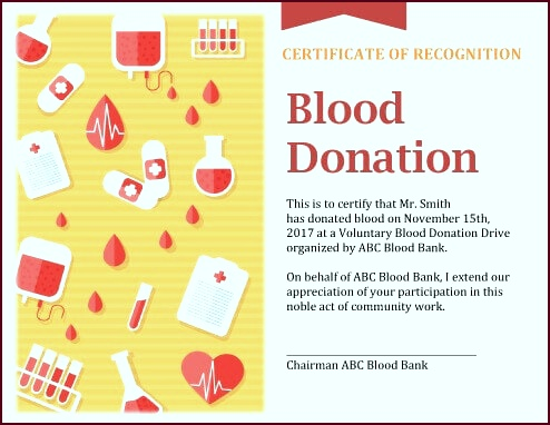 Blood Donation Certificate topyr