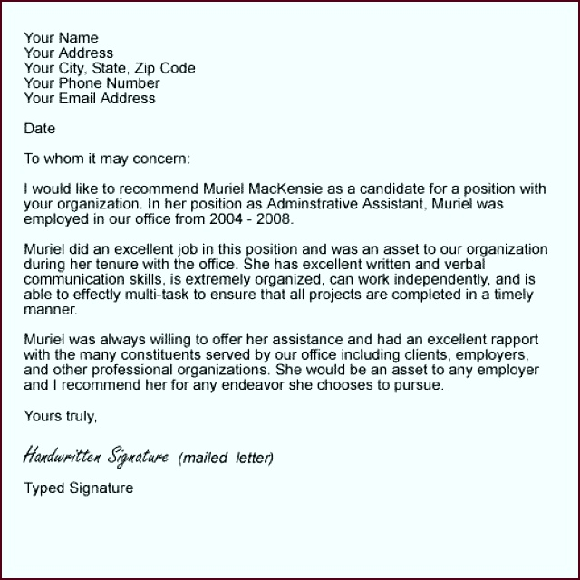 Letter of Re mendation Writing Tips and Examples Letter of Re mendation Template evoui