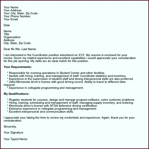 How to pose a Job Winning Cover Letter Letter Format SampleCover efesn