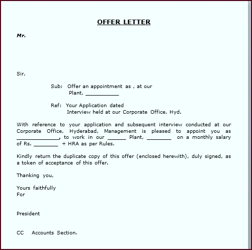 simple appointment letter format best template collection pdf offer letter sample preoy