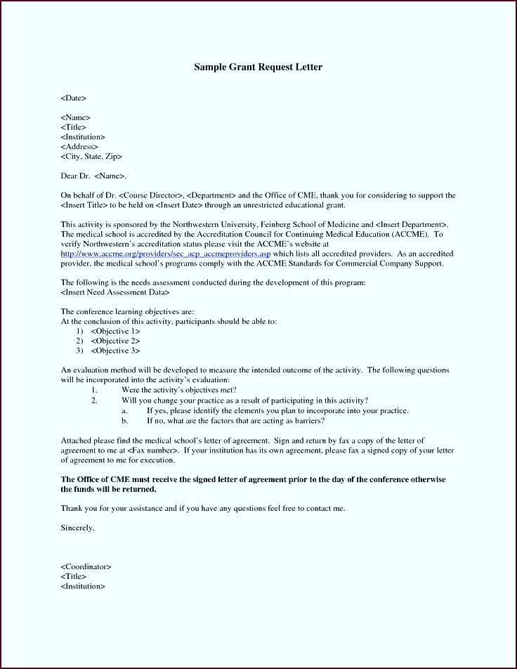 GRANT REQUEST LETTER Write a Grant Request Letter Private funding is often available without epoau