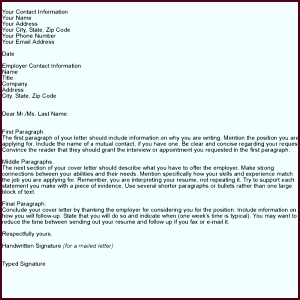 Cover Letter Template for Job Application Start with a template to be sure you include pytar