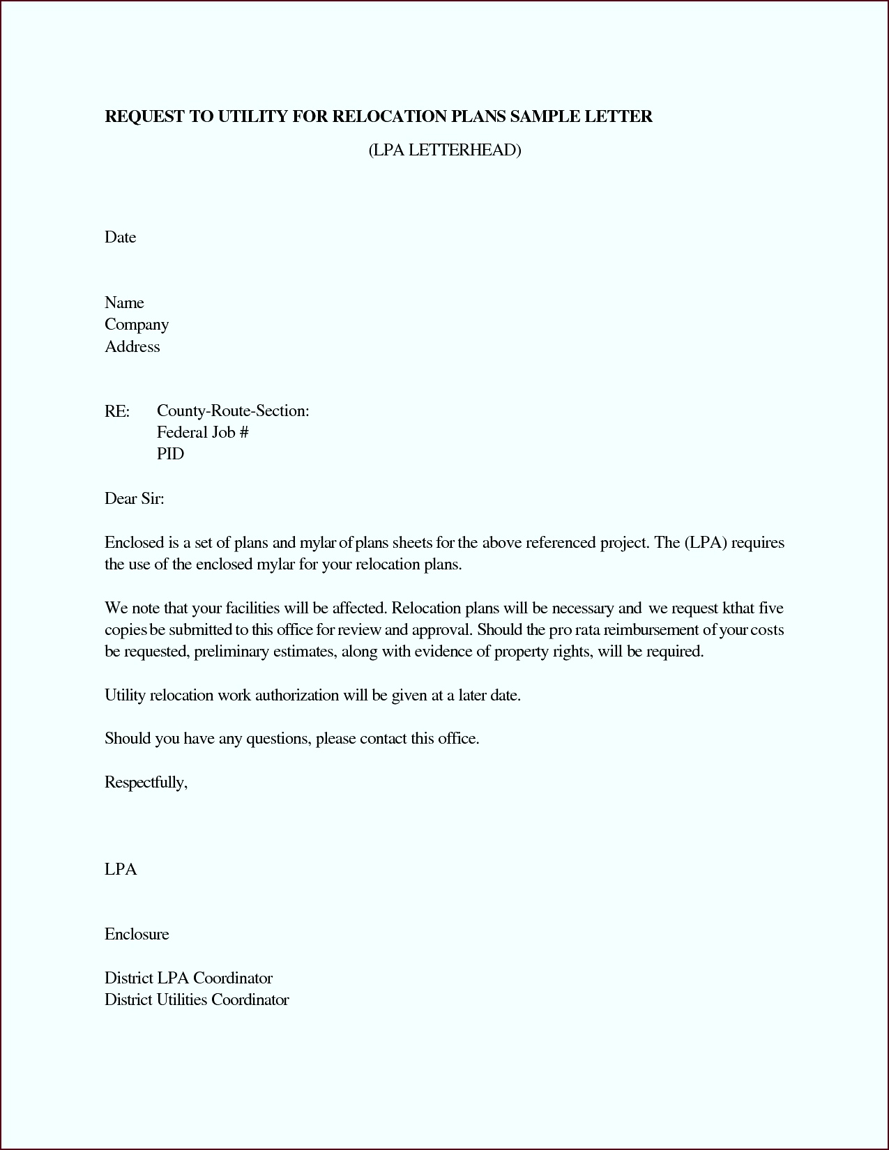 relocation cover letters template toott