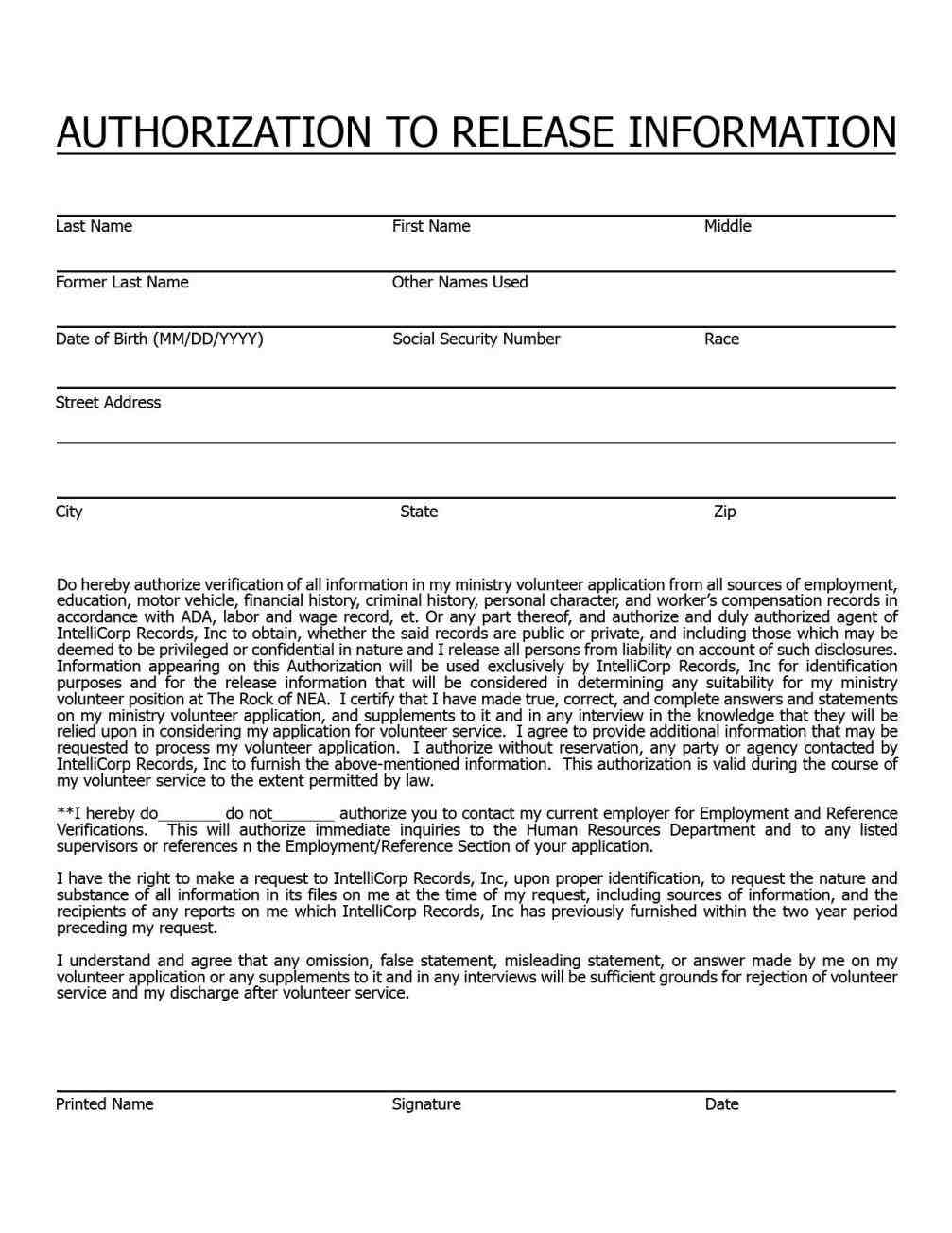 5 background check forms  template invitations