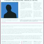 5 Free Newspaper Template for Word