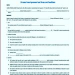 5 Simple Personal Loan Agreement