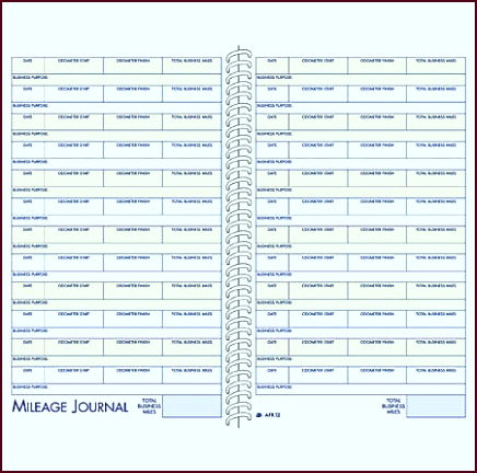 Adams Vehicle Mileage And Expense Book eeirt