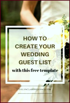 Create your wedding guest list tips and a template tyuug