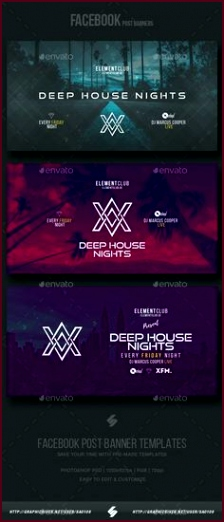 Electronic Music Party vol 11 Post Banner Templates Event banner template oeytt