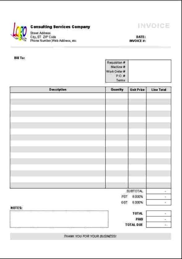 Excel Invoice Template T63729