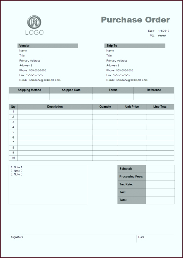 purchase order free purchase order templates po template free itlir