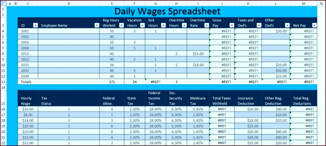 Download Daily Wages Spreadsheet Template Excel – Excel Spreadsheet Templates oaryr