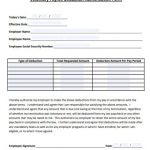 21+ Employee Deduction Form Template