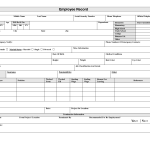 16+ Personnel Record Form Template