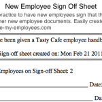 11+ Training Sign Off Form Template