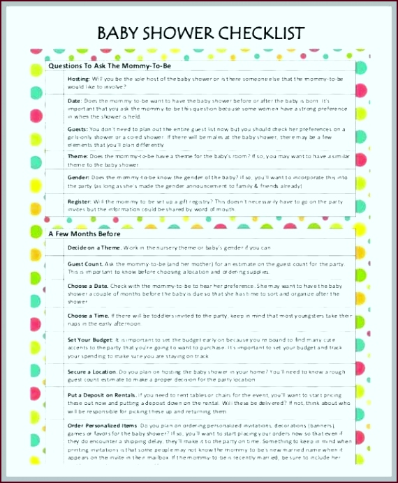 baby shower planner template amazing printable 8 free of planning checklist uuhar