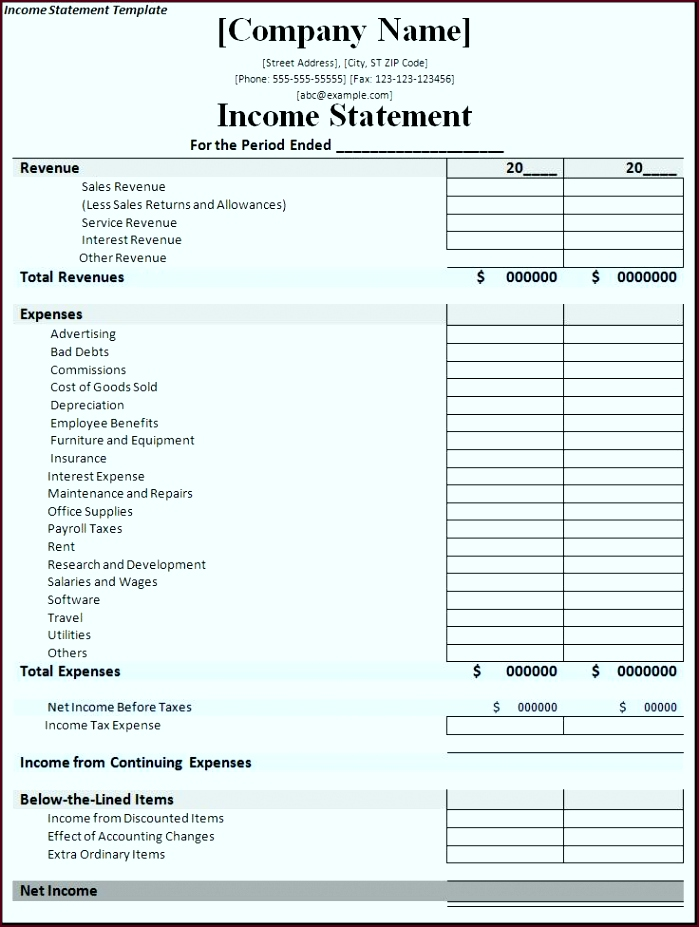 Income Statement Template Ybqe4y Beautiful In E Statement Template Free formats Excel Word699927gbab