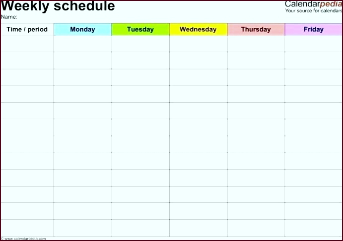 blank daily weekly work schedule template word format monthly plan time timetable doc irrzy