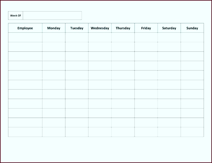 Weekly Employee Work Schedule Template Free Blank Download Legal Documents In Format Daily Rota Daily Rota Template Daily Rota Template Daily Cleaning Rota euetr