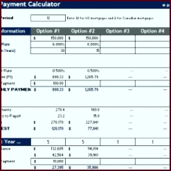 mortgage rate parison spreadsheet as how to make an excel 260x260 uyavy