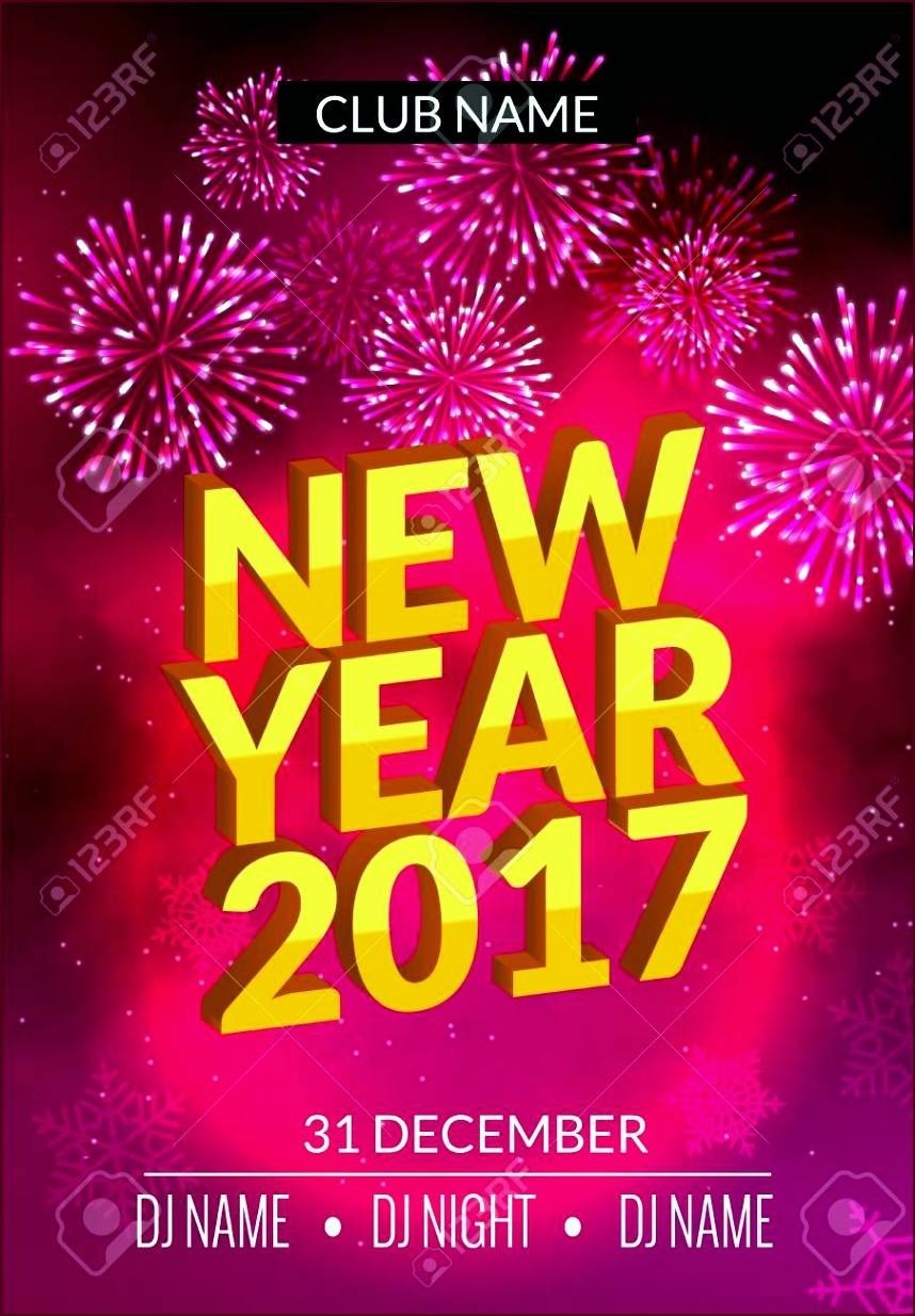 photo stock vector new year party poster design with fireworks light new year disco template celebration invitation car euaui