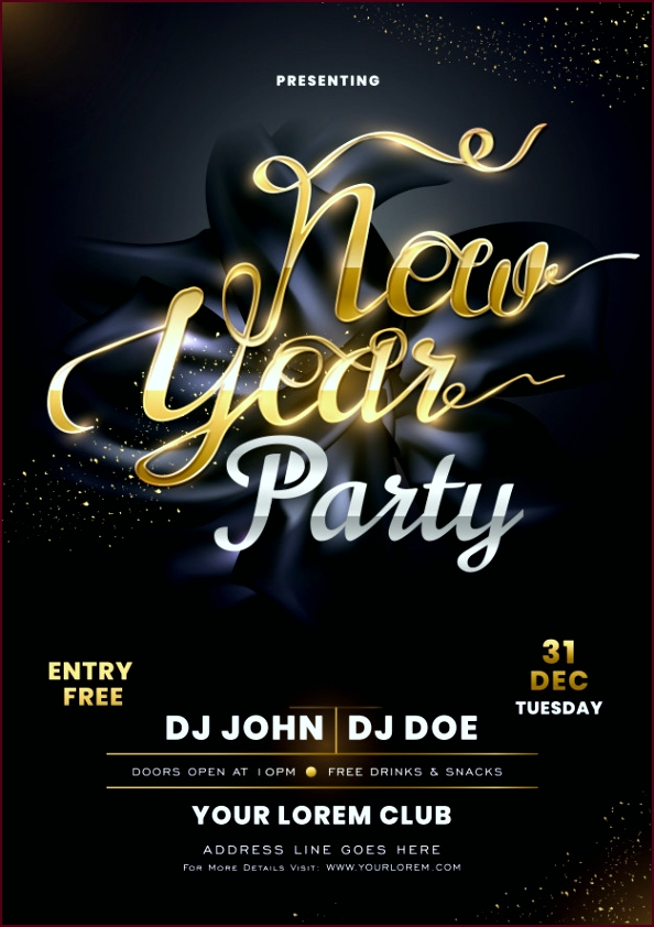 invitation card with calligraphy new year party black silk fabric with event details 1302 apoyi